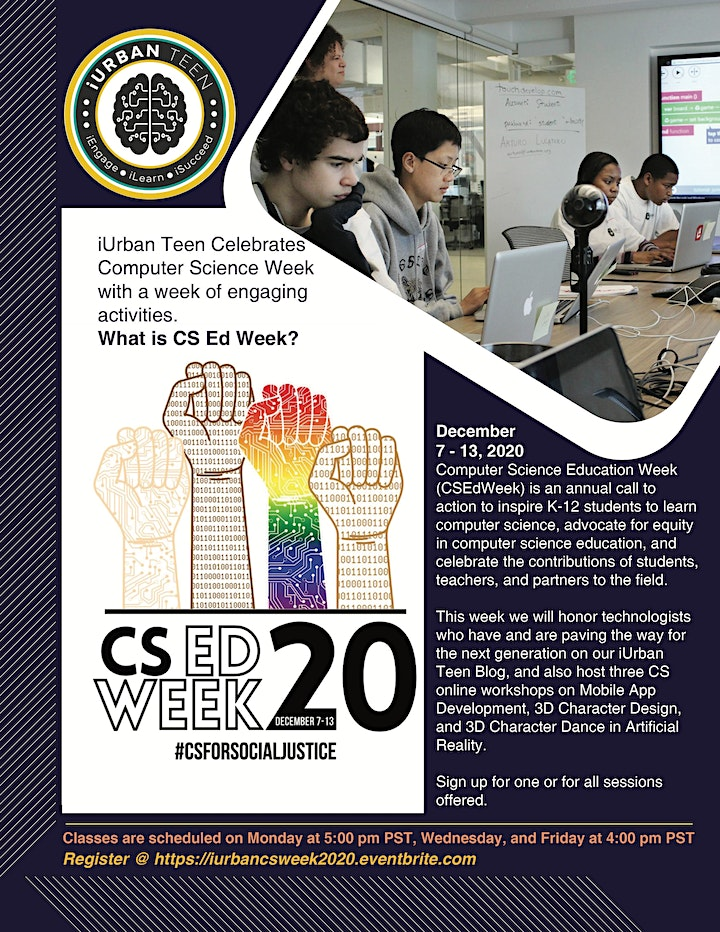 CS Ed Week - Mobile Apps, 3D Animation and Artificial Reality image