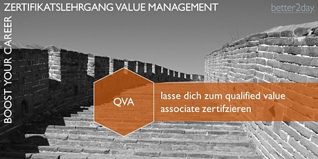 Zertifikatslehrgang Value Management - QVA AUFBAUMODUL Tickets