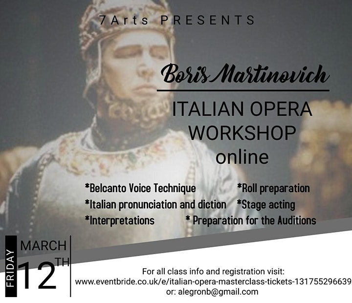 Italian and French Opera Masterclass for Singers image
