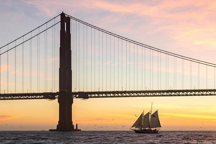 Harvest Moon Sunset Sail on San Francisco Bay - September 2021 image