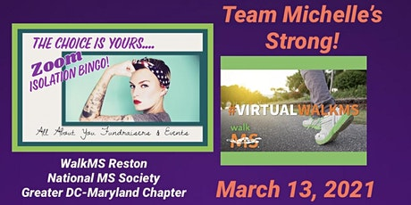 Your Choice Bingo Benefitting Team Michelle's Strong ~ MS Walk tickets