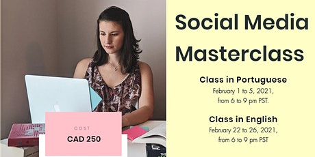 Social Media Masterclass - Portuguese tickets
