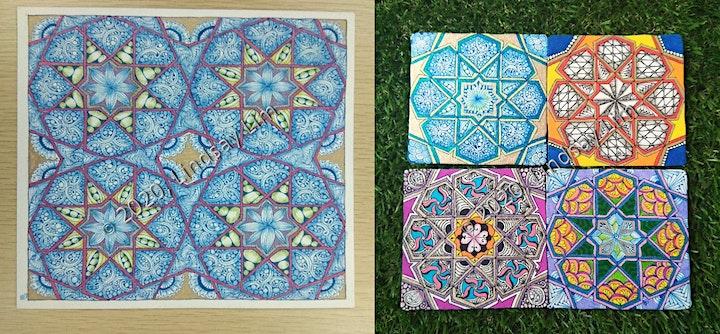 When Islamic Geometric Art Meets Zentangle® Series - Pattern C (Online) image