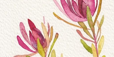 Get Crafty - Floral Watercolour  Workshop via ZOOM - Adults tickets