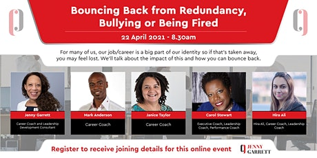 Bouncing Back from Redundancy, Bullying or Being Fired tickets