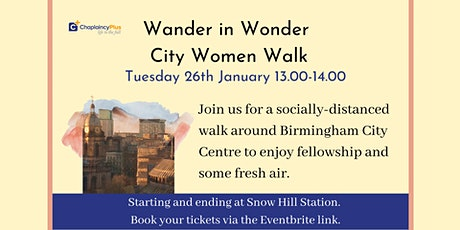 Wander in Wonder - City Women City Centre Lunchtime Walk - January 2021 tickets
