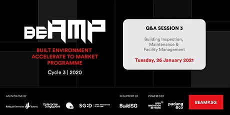 BEAMP Q&A Session 3: Building Inspection, Maintenance & Facility Management tickets