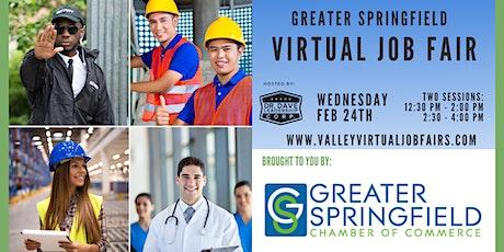 Greater Springfield Virtual Job Fair (JOB SEEKERS) tickets
