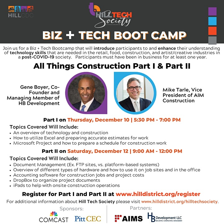 BIZ + Tech Bootcamp: All Things Construction: Part 1 image