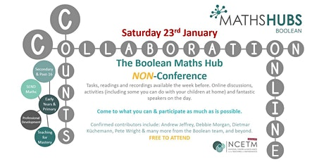 Boolean Maths Hub #CollaborationCountsOnline  Non-Conference 2021 tickets