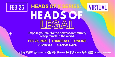 Heads Of X Series: Heads of Legal Conference tickets