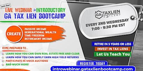 Introductory GA Tax Lien Bootcamp Live Webinar [November 10, 2021] tickets