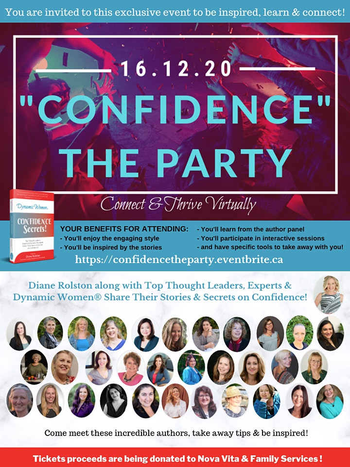 """Confidence"" The Party & the Dynamic Women® Confidence Secrets Book Launch! image"