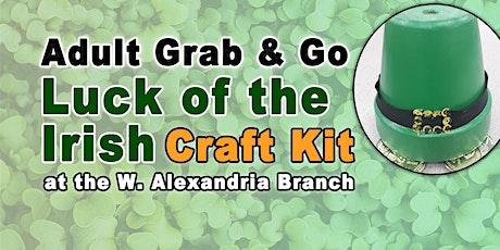 Adult Grab & Go Craft: Luck of the Irish tickets