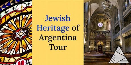 LIVE ONLINE TOUR: Jewish Heritage of Argentina Tour tickets