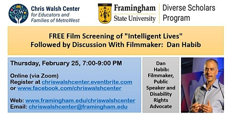 "Free Film Screening of ""Intelligent Lives"" tickets"