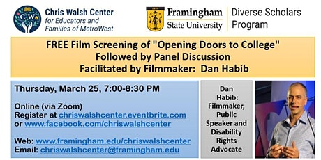 "Free Film Screening of ""Opening Doors to College"" tickets"