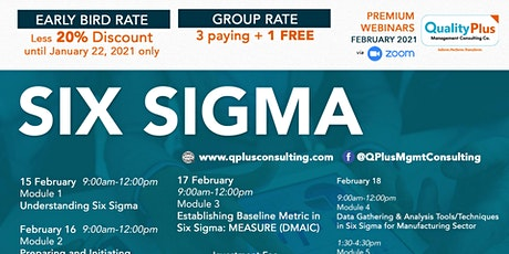 Webinar on Six Sigma tickets
