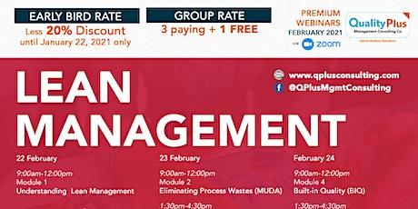 Webinar on Lean Management tickets