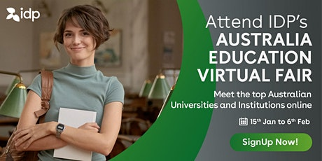 Attend IDP's Australia Education Virtual Fair in  Vijayawada  - 29th Jan tickets