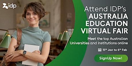 Attend IDP's Australia Education Virtual Fair in  Mumbai  - 30th Jan tickets