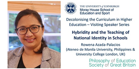 Decolonising the Curriculum in HE- Visiting Speaker Series tickets