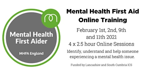 MHFA (Mental Health First Aid) - Online (for South Cumbria and Lancs only) tickets