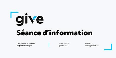 Séance d'information tickets