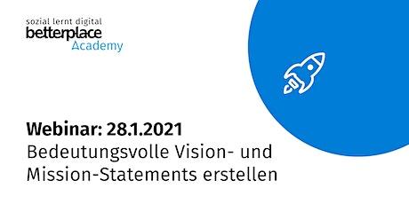 Webinar: Bedeutungsvolle Vision- und Mission-Statements erstellen Tickets