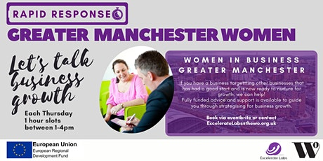Let's Talk Business Growth Manchester: 1-2-1 Business Advice Session tickets