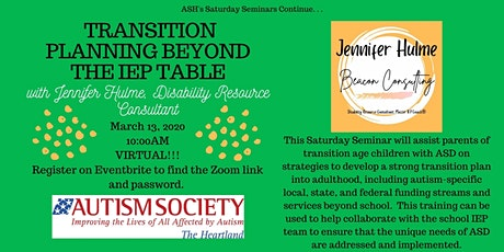 Saturday Seminar: Transition Planning Beyond the IEP Table tickets