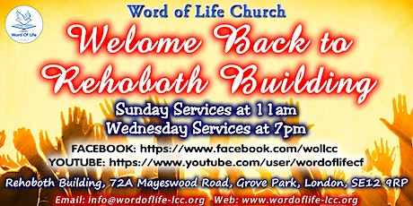 WOL Sunday & Wednesday Services tickets
