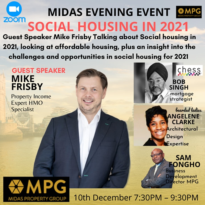 The 10th December Midas Property Evening Events image