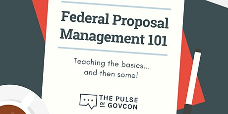 Federal Proposal Management 101 tickets