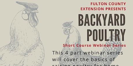 Backyard Poultry Virtual Short Course tickets