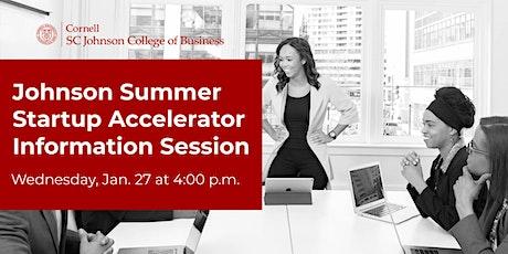 Johnson Summer Startup Accelerator Information Session tickets