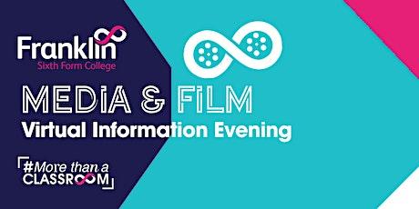 Franklin Sixth Form College Media & Film Virtual information Evening tickets