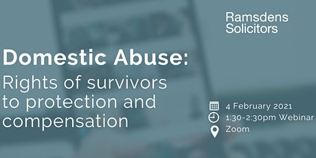 Domestic Abuse: Rights of survivors to protection and compensation tickets