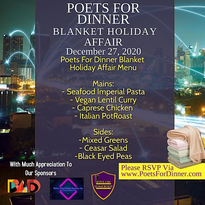 Poets For Dinner's Blanket Holiday Affair image