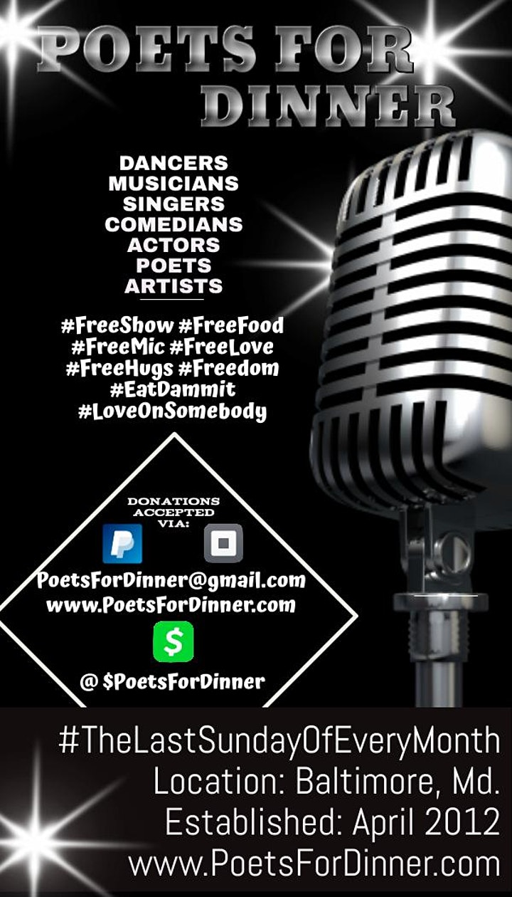 Poets For Dinner's  Free February image
