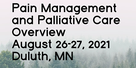 Pain Management and Palliative Care Overivew tickets