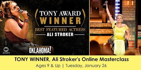 Tony Winner, Ali Stroker's Online Masterclass tickets