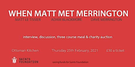 When Matt Met Merrington - Sporting Dinner tickets