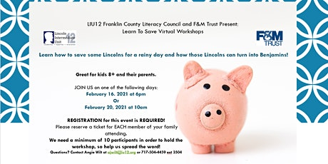 Learning to Save Virtual Workshops tickets