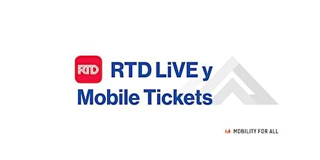 Movilidad para todos taller virtual-  Programa LiVE de RTD y Mobile Tickets entradas