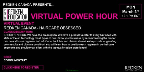 REDKEN CANADA - HAIRCARE OBSESSED tickets