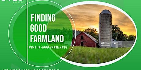 FINDING GOOD FARMLAND tickets