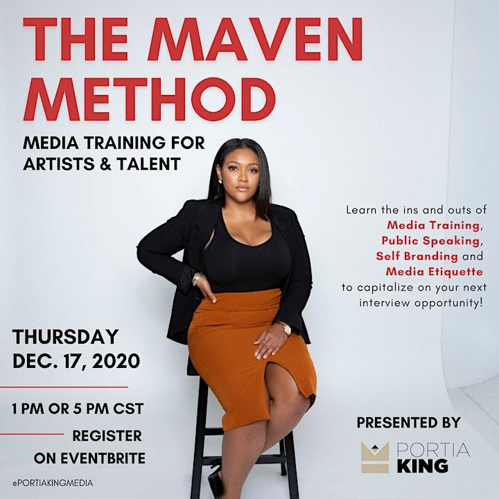 The Maven Method: Media Training for Artists & Talent image