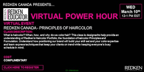 REDKEN CANADA - PRINCIPLES OF HAIRCOLOR tickets