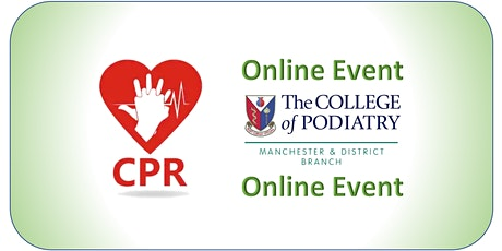 *ONLINE* CPR/Anaphylaxis Annual Update for HCPC Podiatrists (Via Zoom Mtg) tickets